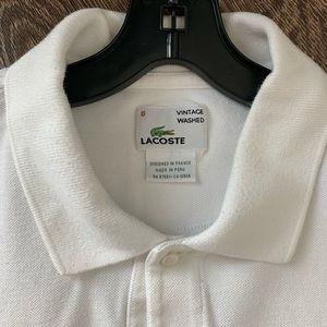 Lacoste Shirts - Men's Lacoste White Polo XL